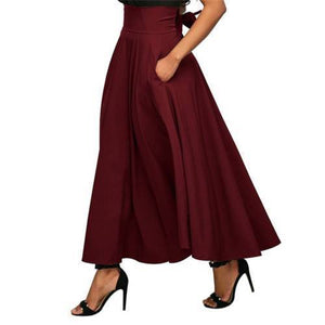 Vintage Women's  Pleated High Waist Skirt