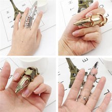 Load image into Gallery viewer, Gothic Celestia Finger Bone Ring