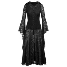 Load image into Gallery viewer, Steam Punk Gothic Hooded Dress S-XL