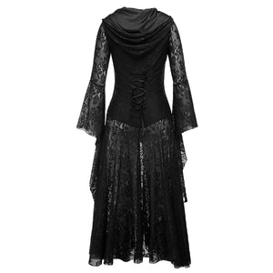 Steam Punk Gothic Hooded Dress S-XL