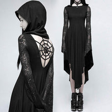 Load image into Gallery viewer, Spider Web Hollow out Hooded Dress S-XL