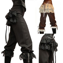 Load image into Gallery viewer, Costume Capris Lace Trousers Black or Brown S-2XL