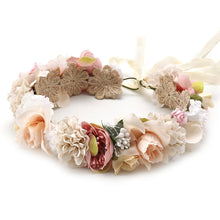 Load image into Gallery viewer, Flower Hair Wreath