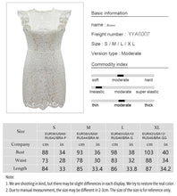 Load image into Gallery viewer, Vintage Patchwork Lace Mini Dress in Black or White S-XL