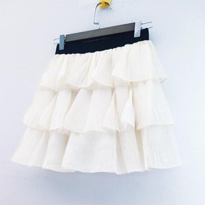 Layered Mini Skirt in 4 Colors