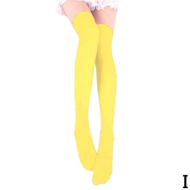 Thigh High Nylon Stockings in 13 Colors