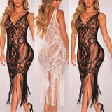 Lace Crochet Bodycon Bandage
