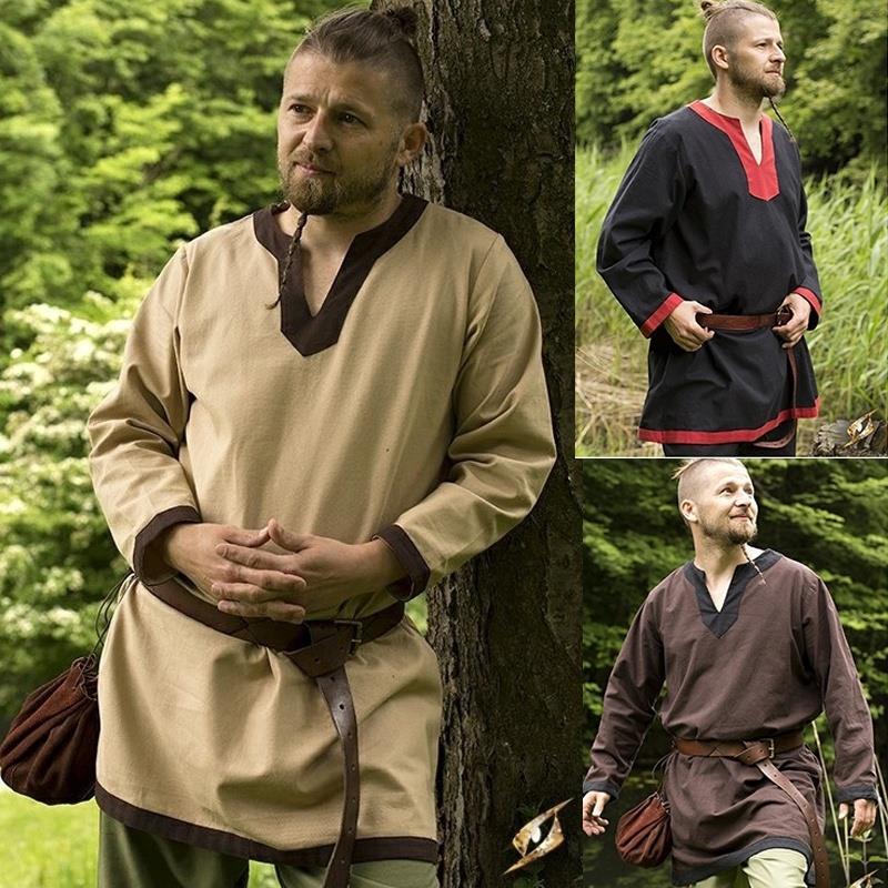 Medieval Vikings Pirate Cosplay Tunic S-5XL (belt not included)