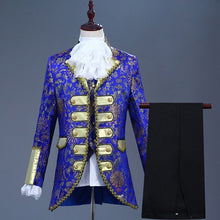 Load image into Gallery viewer, Deluxe Victorian King Prince Costume Top+Vest+Jacket+Ruffled Tie in 5 Colors