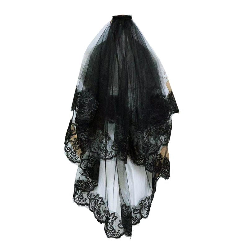 Mantilla Embroidery Cosplay Veil