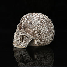 Load image into Gallery viewer, Dia De Los Muertos Resin Skull Prop