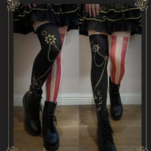 Load image into Gallery viewer, Thigh High Steam Punk Stocking in 2 Styles