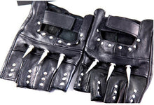 Load image into Gallery viewer, Studded Leather Half Finger Cosplay Gloves Unisex