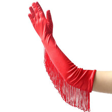 Load image into Gallery viewer, Long Satin Gloves with Tassels in 3 Colors