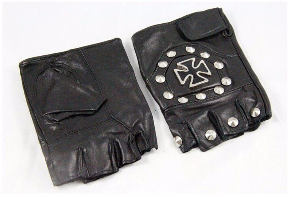 Punk Half Finger Cosplay Gloves