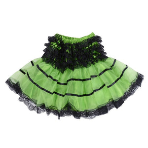 Girls Ballet Dance Fluffy Mini Tutu Skirts in 4 Colors S-XL