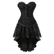 Load image into Gallery viewer, Overbust Corset Bustier Top With Mini TuTu S-6XL