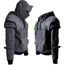 Load image into Gallery viewer, Men's Cosplay Medieval Vintage Warrior Sweater in Grey or Black M-3XL
