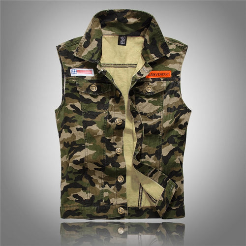 Military Snap Leisure Vest  M-4XL