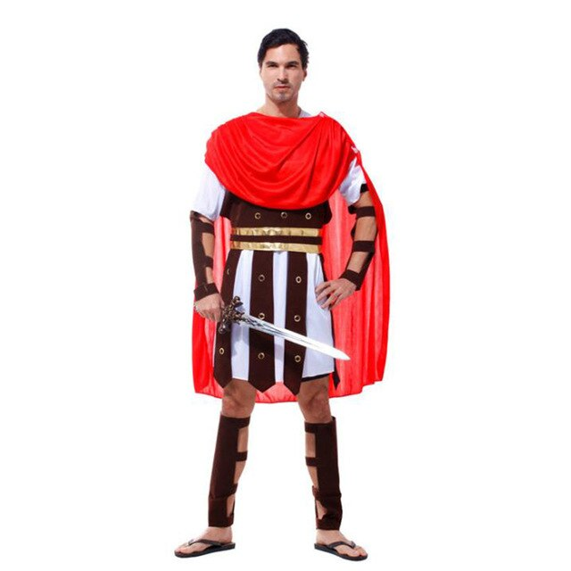 MENS Gladiator Roman Soldier Costume