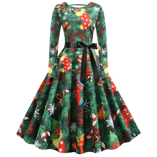 Holiday Print Vintage Dresses and Underskirts