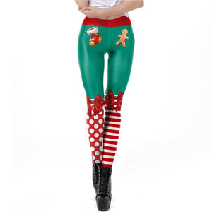 3D Printed Holiday Leggings For Women