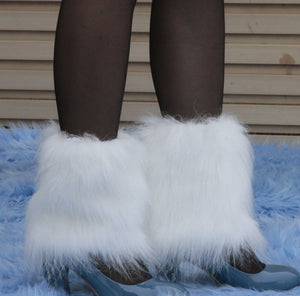 Faux Fur Leg Warmers in 3 colors