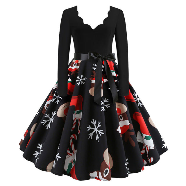 Long Sleeve Christmas Dresses Many Colors and Sizes Fast shipping