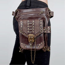 Load image into Gallery viewer, Leather Messenger Crossbody Bag
