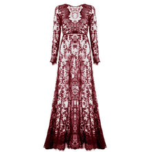Load image into Gallery viewer, Hollowed Out Lace Patchwork Dress in 4 Colors