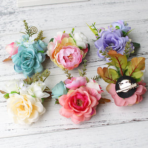 Flower Clips in 6 Colors