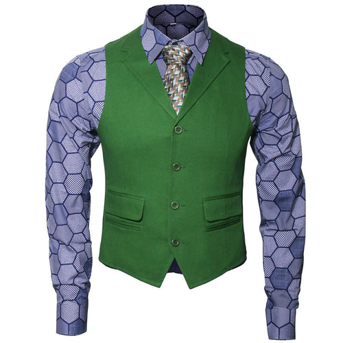 Joker Cosplay Adult Men Shirt + Green Vest + Tie Items sold separately or as a set S-2XL