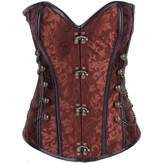 Steampunk Corset in 4 Colors S-6XL