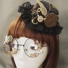 Load image into Gallery viewer, Victorian Gear Mini Top Hat and Glasses