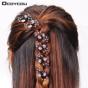 6PCS/1 pack Wedding Bridal Hair Claws in 4 Colors
