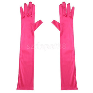 Satin Long Gloves in 12 Colors
