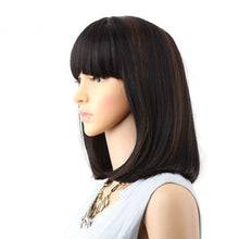 "Load image into Gallery viewer, Straight Bob Natural Colors Lace 14"" Wig"