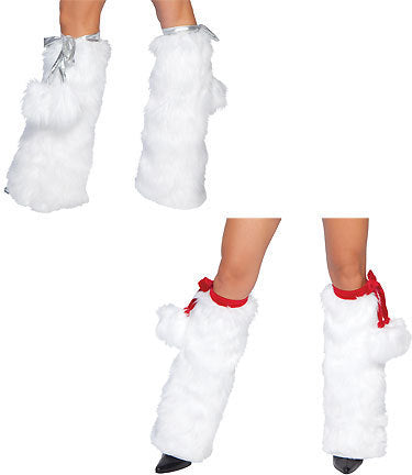 Faux Fox Fur Holiday Leg Warmers