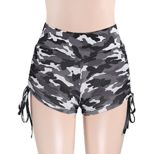 Yoga Compression Shorts in Black or Green Camo S-L