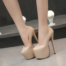 Load image into Gallery viewer, 4 Colors High Heels 18cm Stilleto with 8cm platforms