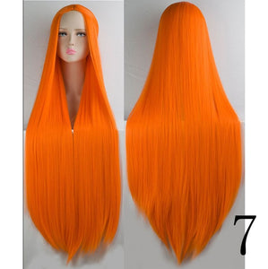"40"" Long Straight or Wavy Synthetic Wig Many Colors"