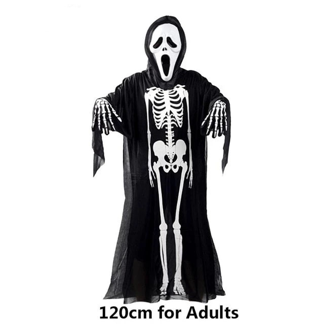 Skull Skeleton Demon Ghost Costume
