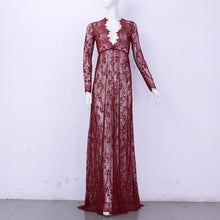 Load image into Gallery viewer, Hollowed Out Lace Dress Floor-Length in 10 Colors S-4XL