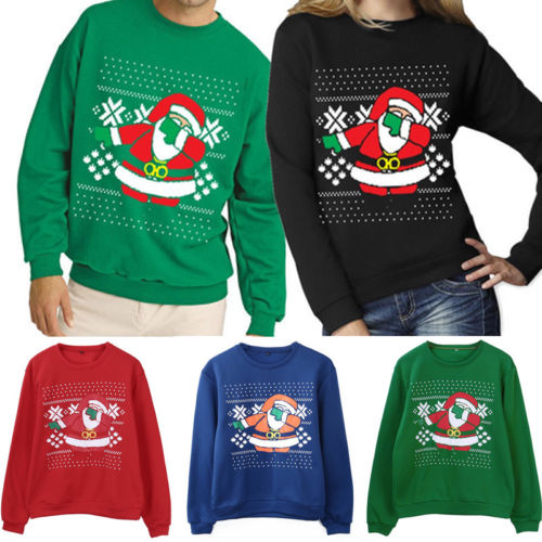 Dabbing Santa Ugly Sweater S-2XL