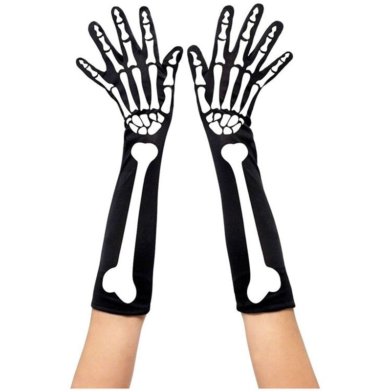 Scary Skeleton Costume Accessory Full Covered or Fingerless