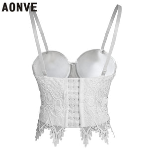 Steampunk Corset Bra Tops White or Black S-6XL