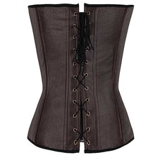 Load image into Gallery viewer, Buckled Lace-up Warriors Corset in Coffee or Black S-2XL