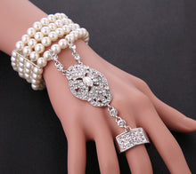Load image into Gallery viewer, Gatsby Pearl Bracelet Ring Set in 3 Colors