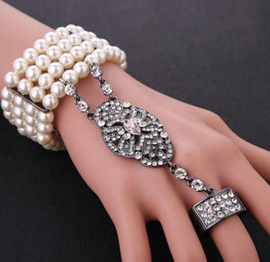 Gatsby Pearl Bracelet Ring Set in 3 Colors