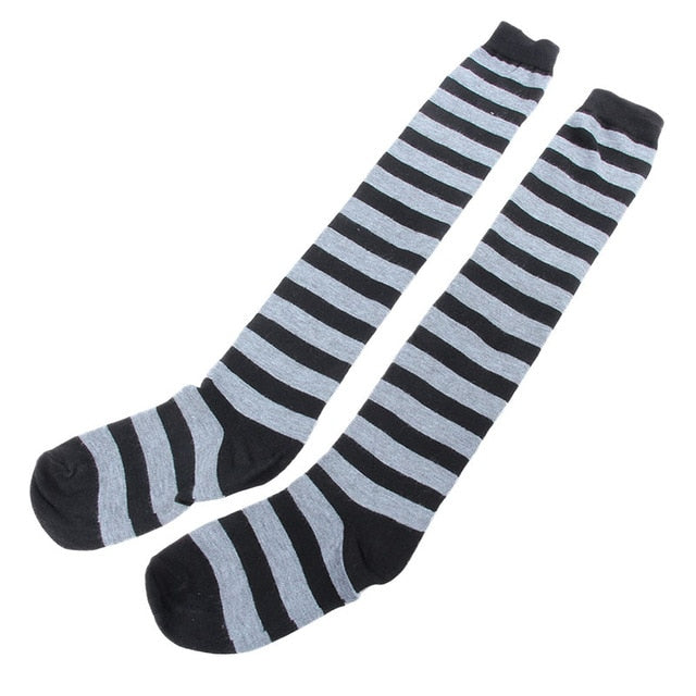 Thigh High Striped Stocking in 11 Colors